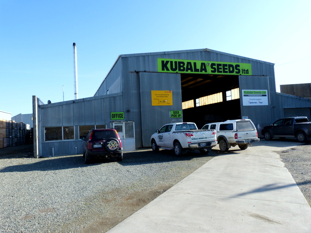 Main building Kubala Seeds in Gore